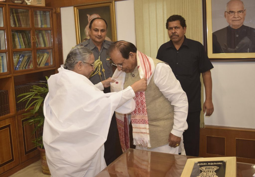Guwahati- BK Sisters Felicitate His Excellency Prof. Jagdish Mukhi, the new Governor of Assam